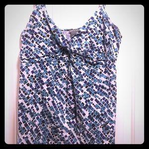 Ann Taylor Spaghetti strap cotton blouse